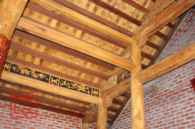 khung nhà gỗ 3 gian