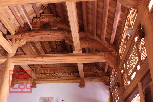 Khung nhà gỗ mít