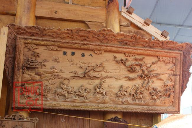 tham khảo tranh gỗ trong nhà gỗ