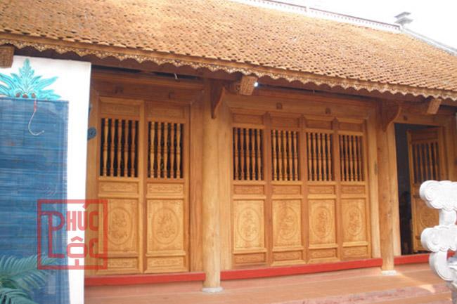Nhà gỗ mít; nhà gỗ 3 gian