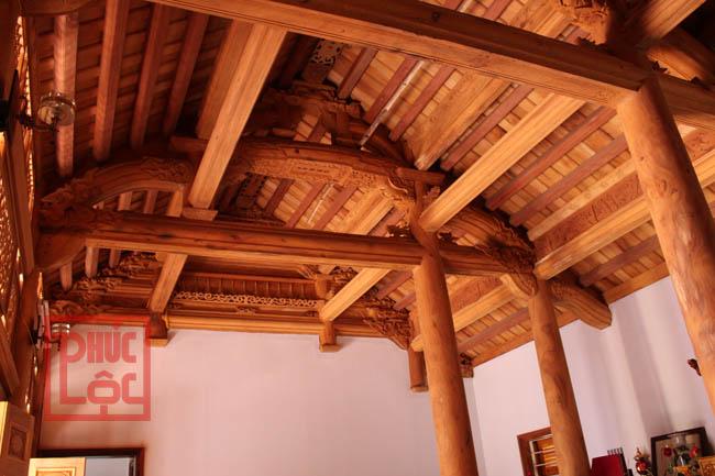 nhà gỗ mít 3 gian bằng đầu