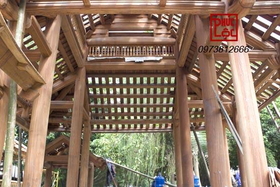 kết cấu vì kèo gỗ bên trong