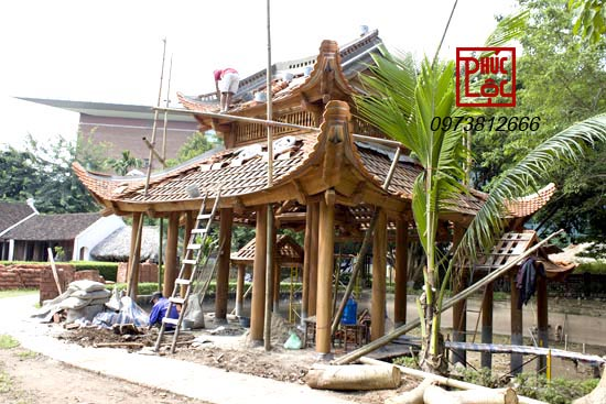 kiến trúc đắc sắc bới kỹ thuất gỗ và ngõa