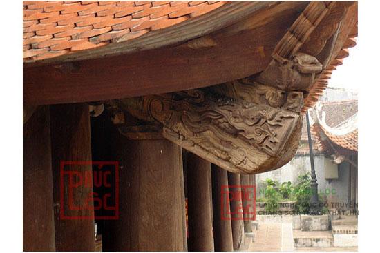 Hoa văn chạm khắc trên đầu bảy Đình Tây Đằng