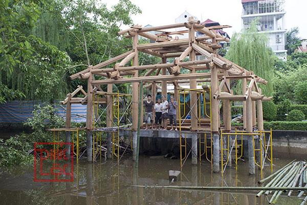 Lắp dựng nhà gỗ thủy đình