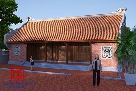 hình ảnh thiết kế đẹp mắt của nhà gỗ 3 gian 2 chái
