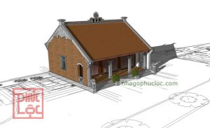 Thiết kế nhà gỗ 3 gian