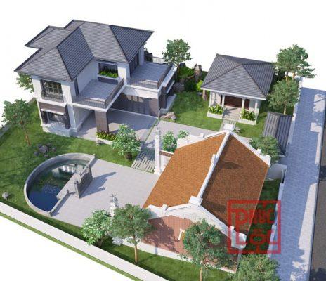 Thiết kế quần thể nhà biệt thự và nhà thờ