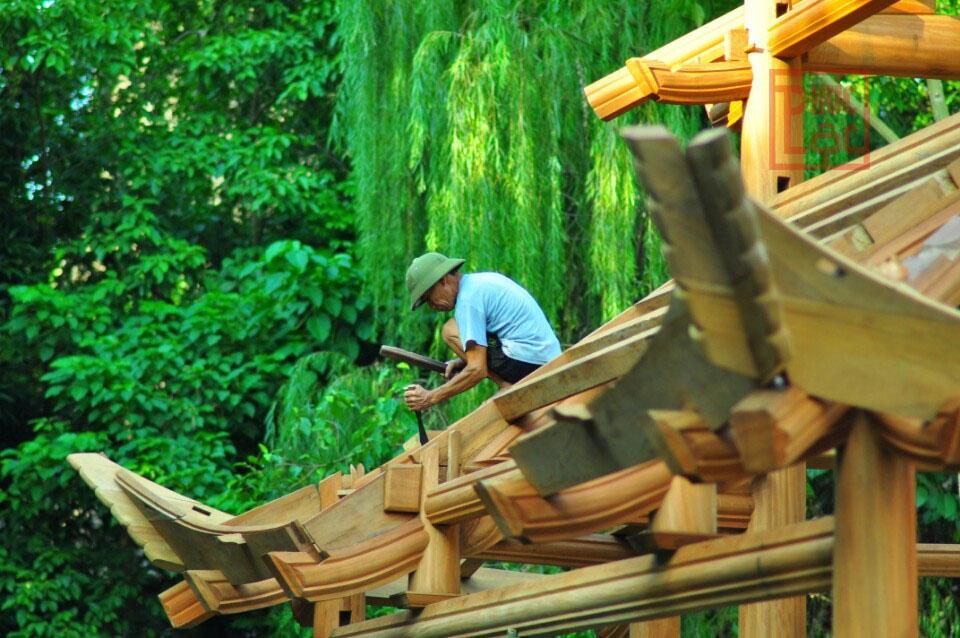 Các chi tiết gỗ rất đẹp