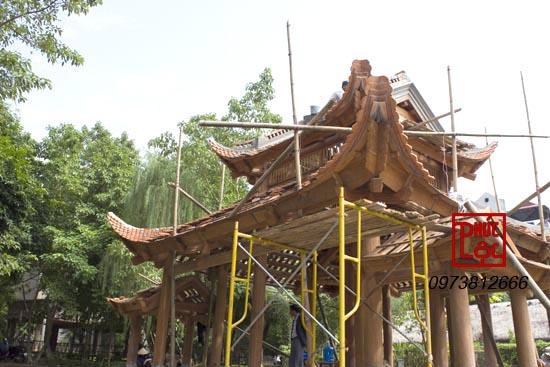 khung nhà gỗ thủy đình