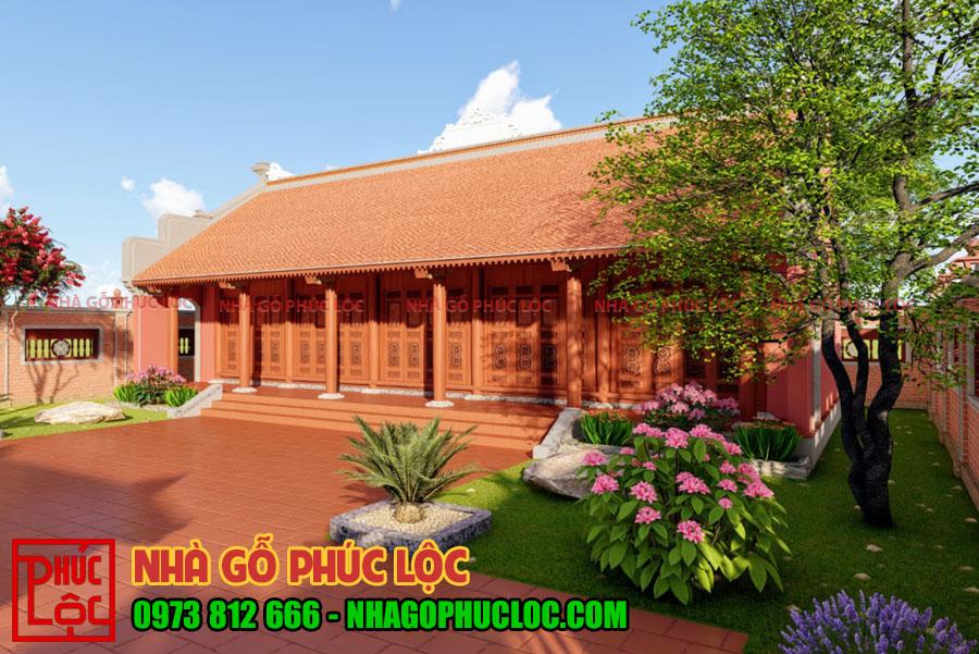 Hình ảnh nhà gỗ mít 5 gian phối cảnh
