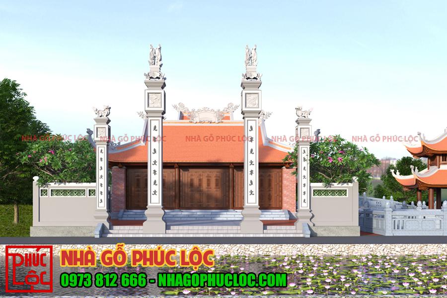 Mẫu cổng nhà thờ họ từ đường kiểu cổng tam quan dành cho nhà thờ họ lớn