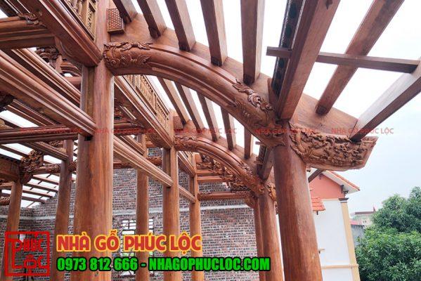 hình ảnh lắp dựng nhà gỗ lim