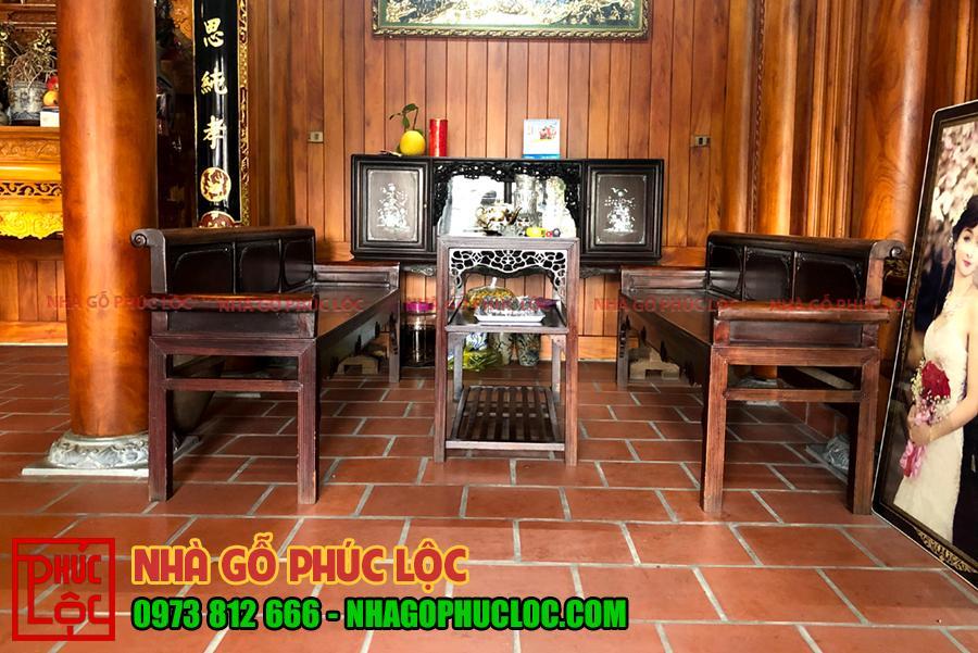 Hình ảnh bộ trưởng kỷ của nhà gỗ 3 gian tại Hưng Yên