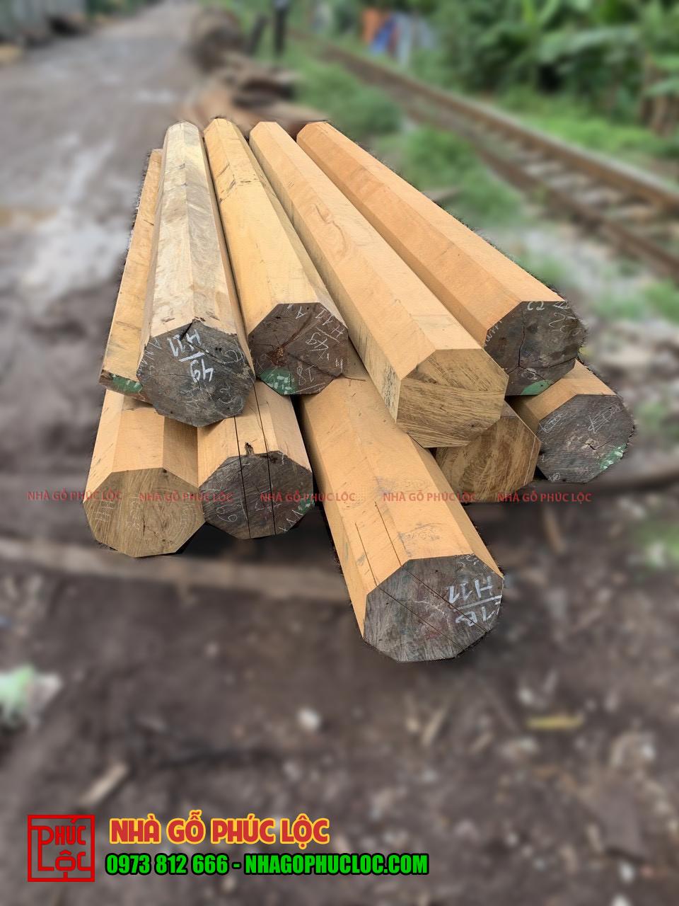 Cây gỗ lim được xẻ thành các cấu kiện nhỏ