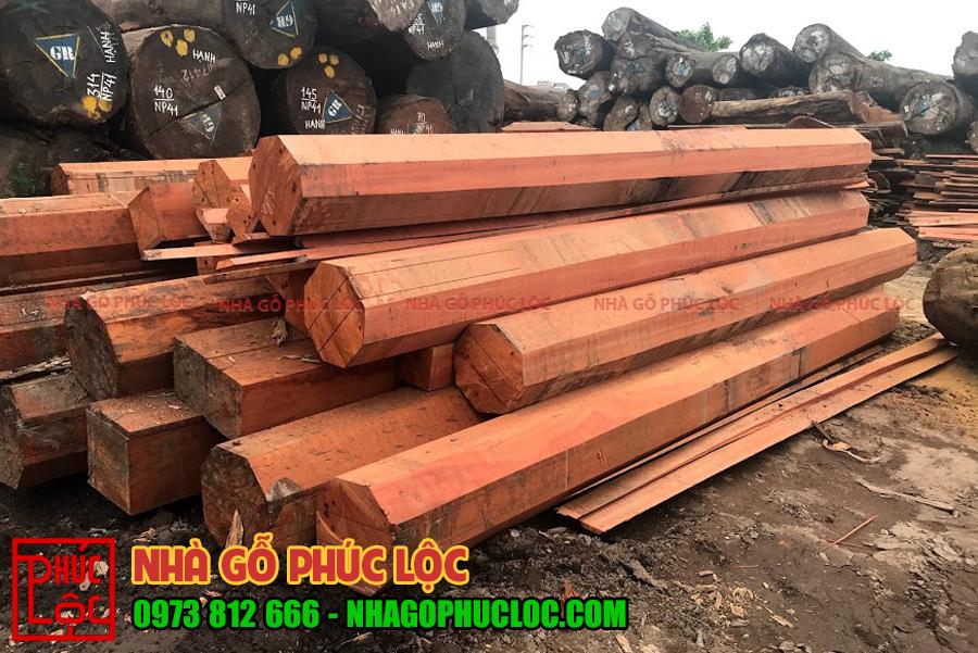 Hình ảnh các khối gỗ sau khi được xẻ xong