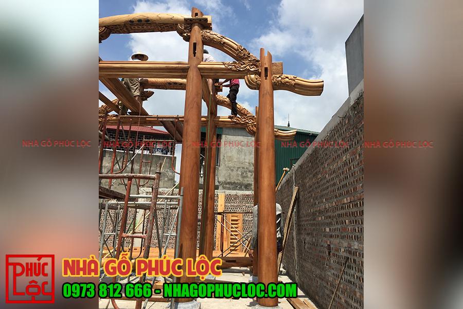 Những cột nhà được lựa chọn đạt tiêu chuẩn chất lượng