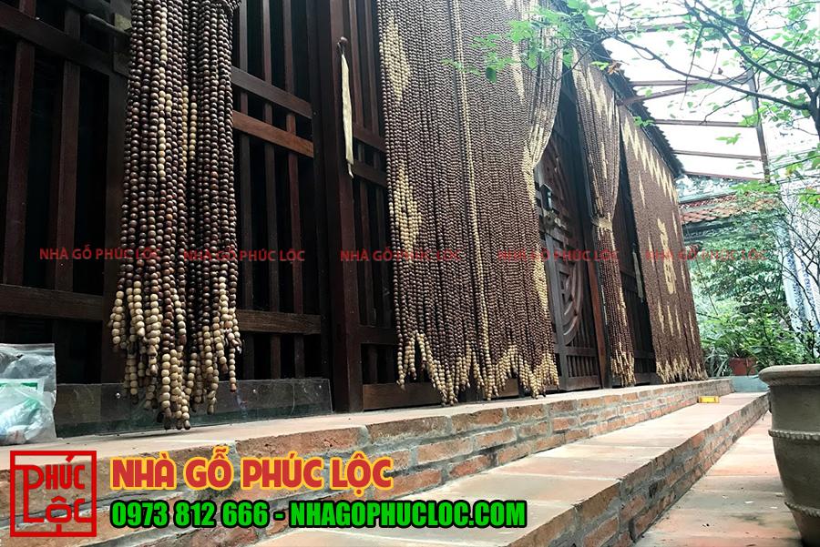 Hình ảnh phần hiên nhà gỗ lim 3 gian