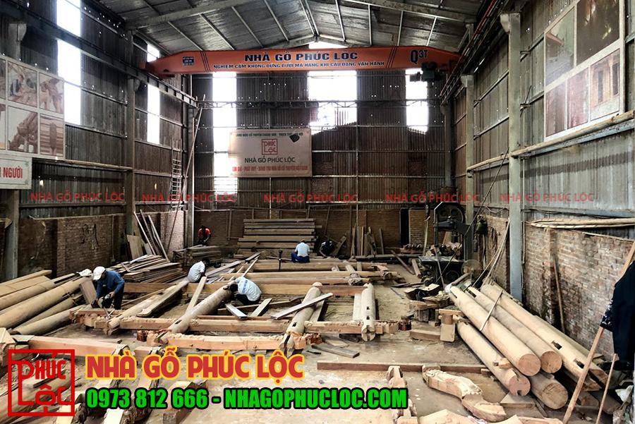 Toàn cảnh quá trình lắp dựng tại xưởng nhà gỗ 3 gian