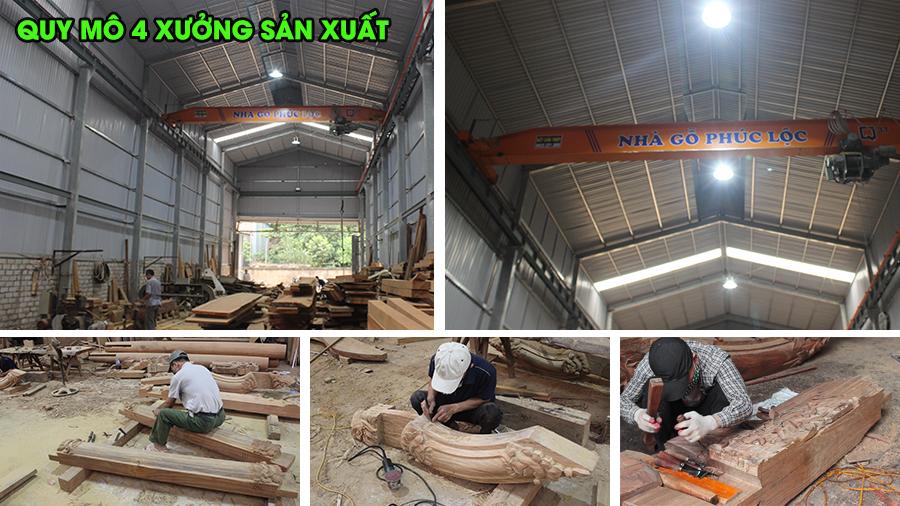 Xưởng sản xuất nhà gỗ cổ truyền Phúc Lộc