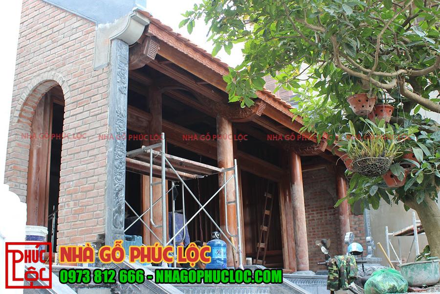 Tổng thể căn nhà đang trong giai đoạn hoàn thiện