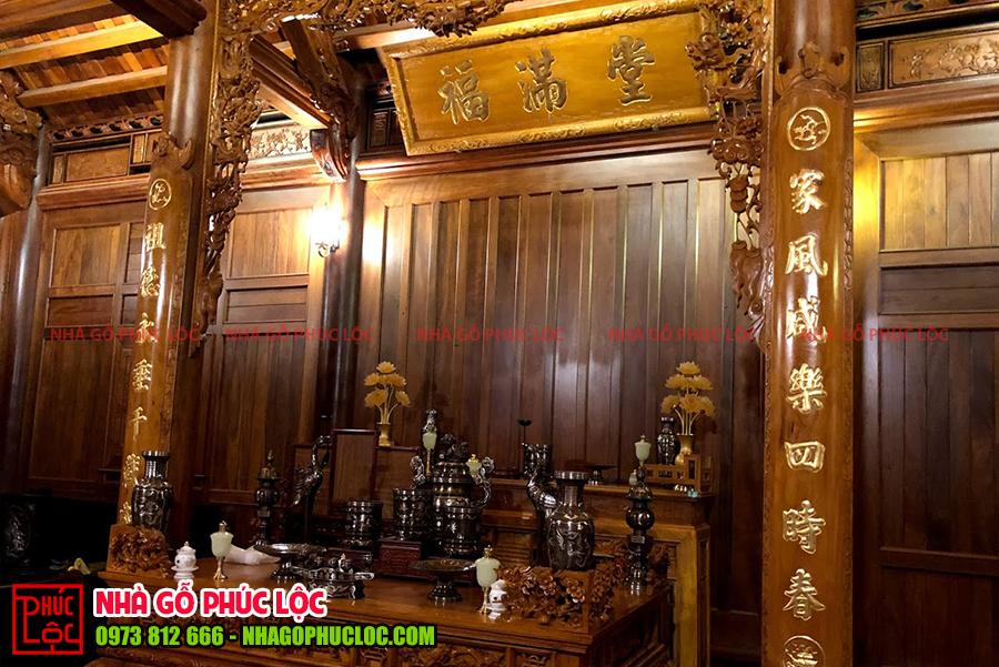 Mẫu bàn thờ bằng gỗ mít của cổ truyền
