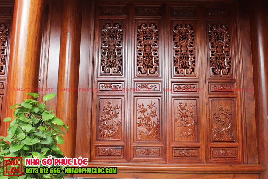 Cức bức bàn của nhà gỗ lim cổ truyền