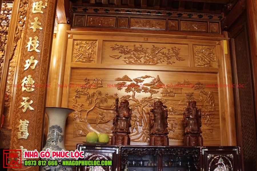 Gian biên bên trái của nhà gỗ 3 gian tại Hưng Yên