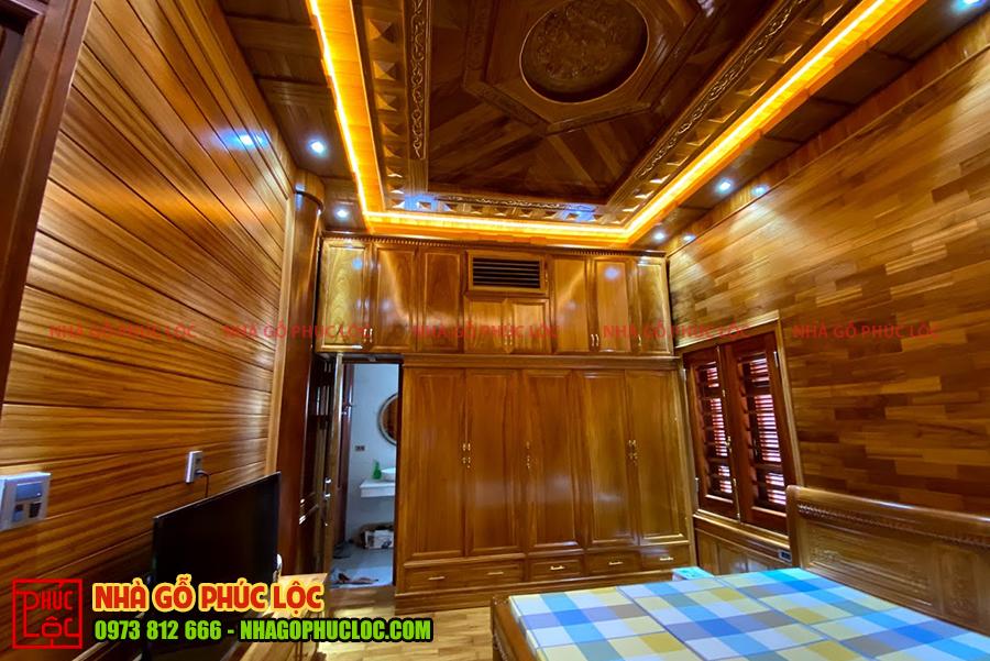 Hình ảnh buồng ngủ trong căn nhà gỗ lim 5 gian
