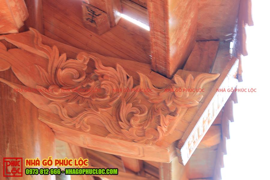 Hoa văn nhà gỗ xoan cổ truyền