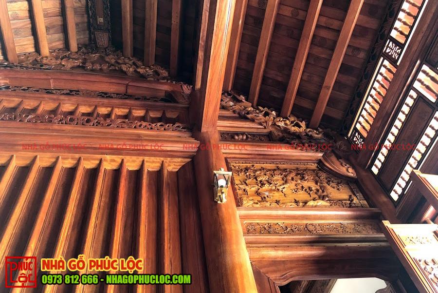 Đố lụa và đố vỏ măng nhà gỗ cổ truyền