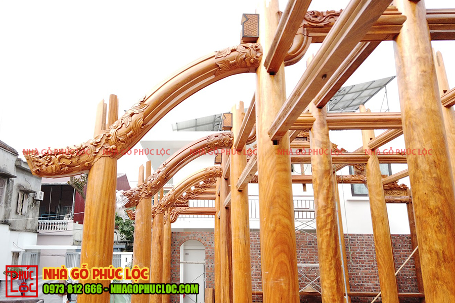Các hoa văn trên nhà gỗ lim 5 gian Bắc Bộ