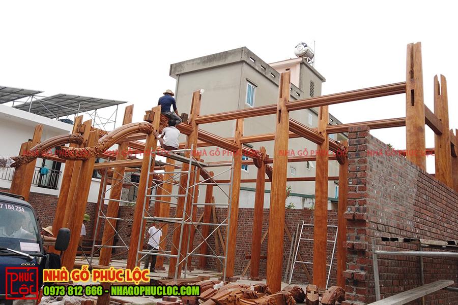 Lắp dựng phần khung được cơ bản hoàn thành