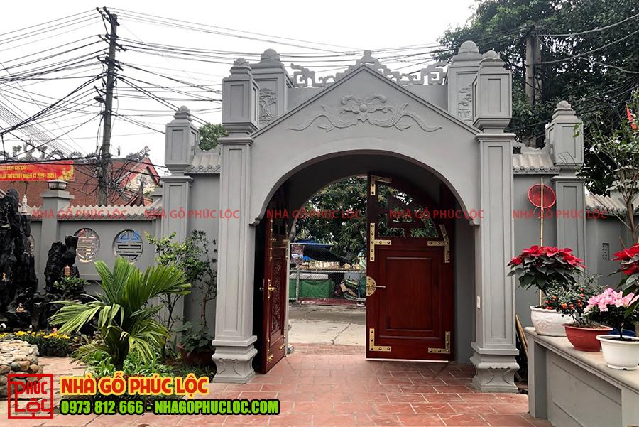 Mẫu cổng tam quan được cách điệu