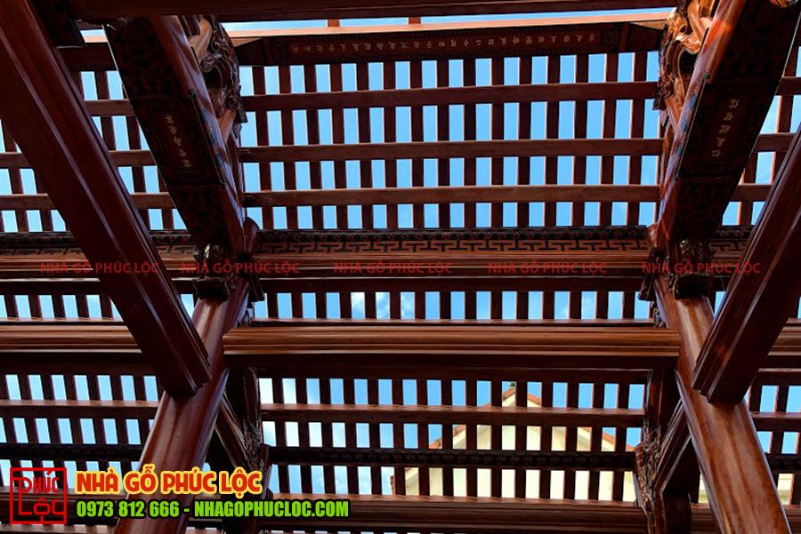 Hệ thống hoành rui mè của nhà gỗ cổ truyền