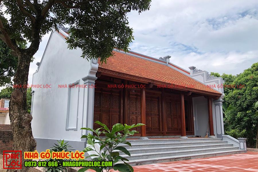 Hình ảnh căn nhà gỗ 3 gian cổ truyền đẹp