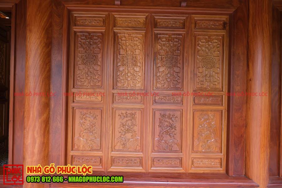 Cửa bức bàn nhà gỗ cổ truyền