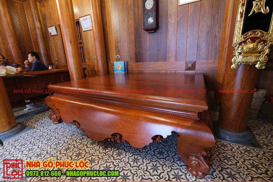 Sập gỗ nhà 5 gian