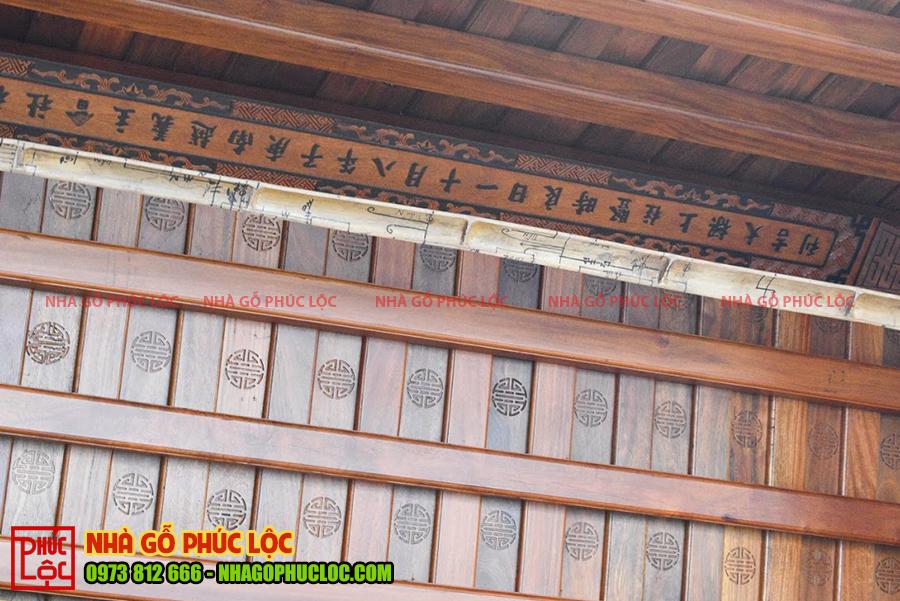Phần thượng lương của nhà gỗ cổ truyền