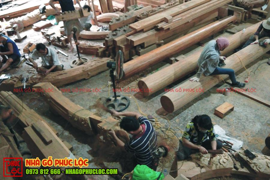 Toàn cảnh hoạt động của xưởng nhà gỗ Phúc Lộc
