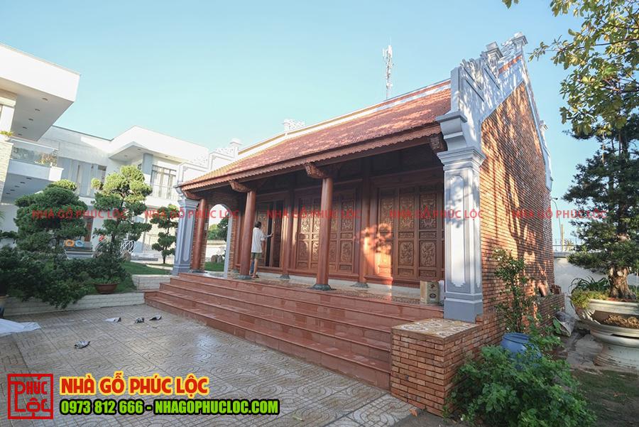 Tổng thể công trình nhà gỗ lim 3 gian cổ truyền