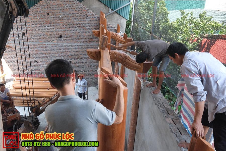 Phần tường hậu sẽ được lắp dựng đầu tiên