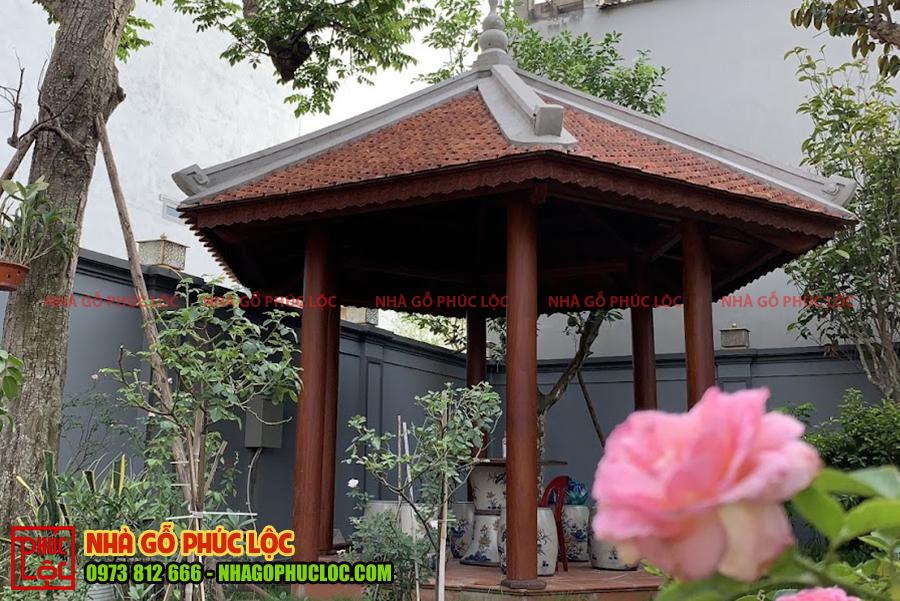 Nhà chòi của công trình nhà gỗ 5 gian