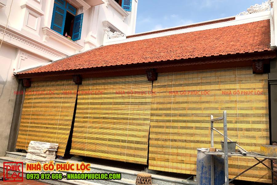 Tổng thể công trình nhà gỗ 3 gian trong thực tế