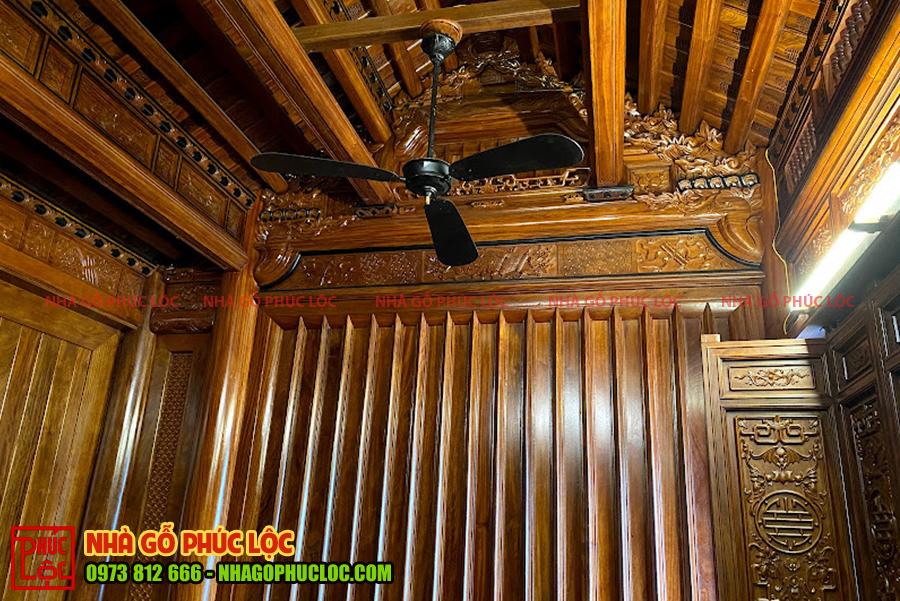 Vách thuận nhà gỗ 3 gian